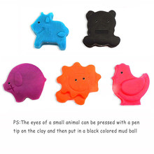 9pcs/set Mixed Color Plastic Plasticine Playdough For Children Kids Indoor Playing Sand Clay Color Mud Toys Accessories MU601731(China)
