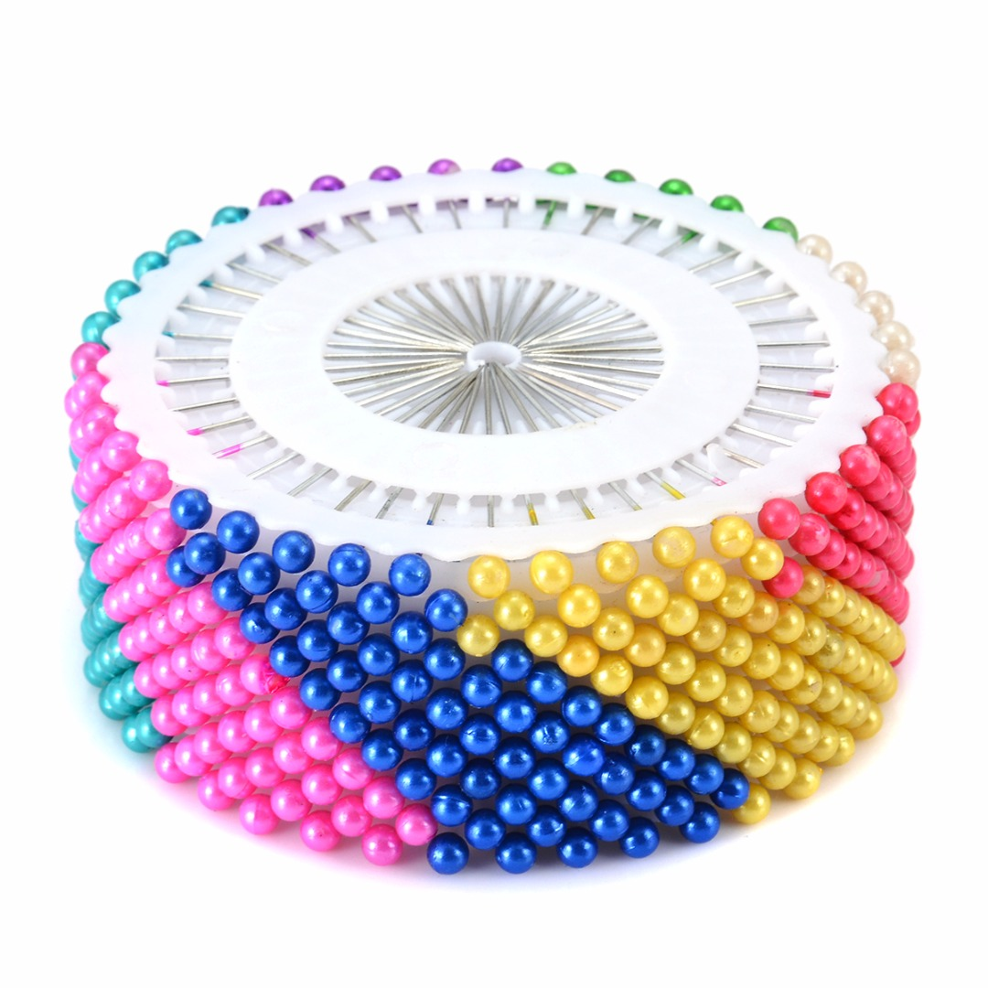 New Colorful/White Round Pearl Head Pin Wedding DIY Craft Dress Making Patchwork Straight Sewing Needle Pins 40pcs/240pcs/480pcs
