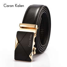 Caron Kalen Famous Brand Belt Men 100% Good Quality Cowskin Genuine Luxury Leather Men's Belts for Men cheap sale(China)