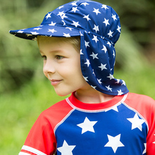 2017 Neck Ear Protection Swimming Caps for Children Pure Color and Printed Swimming Cap Baby Boy Girls Professional Suncreen Hat