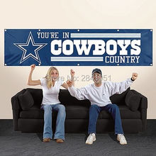 Dallas Cowboys Tailgate Banner Outdoor Indoor Football Flag 8X2FT Custom USA Any Team Flag(China)