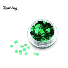 2016 New Fashion Sale Green Lady Powder Of Sparkle Nail Art With Chrome Powder Nails And Photoluminescent Pigment