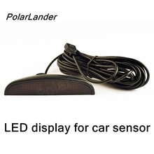 PolarLander 12V Car LED Display Parking System Reversing Radar Parking Sensors Car Parktronic Detector Monitor best selling