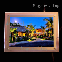Real Estate Agent Indoor Wall Mounted Acrylic Frame Led Lighted Up Panel,A2 size LED Poster Frames