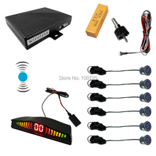 6 Sensors Car Wireless Parking Sensor 2 Front 4 Rear Backup Radar 10-Color #FD-2067
