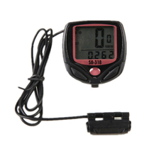 Bicycle Computer Leisure 14-Functions Waterproof Cycling Odometer Speedometer With LCD Display Bike Computers/cycling Stopwatch(China)