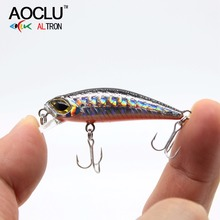 AOCLU FU45 wobblers Jerkbait 6 Colors 4.5cm 3.0g Hard Bait Minnow Crank Fishing lures Bass Fresh Salt water 14# VMC hooks tackle(China)