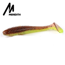 MEREDITH Fishing Lures FAT Swing Impact Swimbait 85mm/5.5g 10pc/Lot Craws Soft Lures Fishing Soft Bait Bass Bait(China)