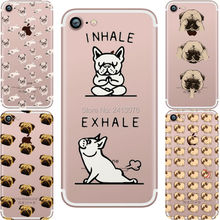 phone cases Pug dogs Attack Clear soft silicon TPU fundas capa coque case cover for Apple iphone 7 7plus 6 6S 6plus 6Splus 5S SE
