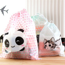 Travel Cartoon Storage Bag Waterproof PVC Drawstring Cloth Sorting Makeup Cosmetic Organizer Sock Underwear Storage Bag