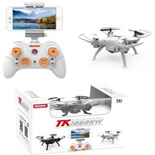 Skytech TK106RHW 2.4G 4CH Mini Drone Altitude Hold WIFI FPV 0.3MP Camera VR Function RC Quadcopter good as JJRC H37  E50S