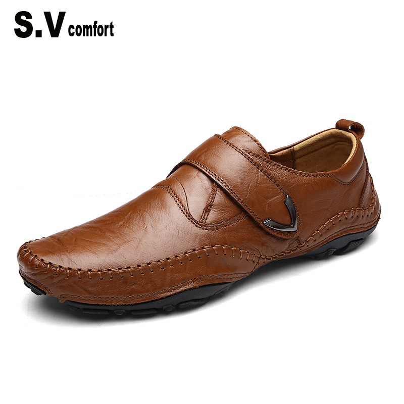 100% Genuine Leather Men Loafers Comfortable Casual Shoes Men Fashion Men Shoes Driving High Quality Flat Shoes Moccasin Man<br>