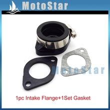 Intake Adapter Boot Rubber Pipe Flange + Gasket For Mikuni VM24 Keihin PE24 26 28 OKO Carburetor Dirt Pit Bike Motorcycle