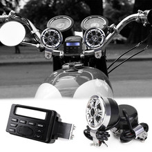 12V FM MOTORCYCLE RADIO/MP3 Speaker Stereo + 2 WATERPROOF Handlebar SPEAKERS(China)