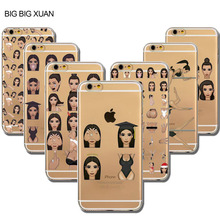Fundas Unique Kardashian Crying Face KIMOJI Phone Case For iphone 6 6S 5 5S SE 5C 6Plus 6sPlus 4 4S Transparent Silicone Cover(China)