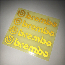 Five colors Brembo Logo car stickers Brembo Brake Caliper Vinyl Set of 4 Stickers For Auto performance decoration Car styling