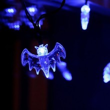 20 Bat Lights Halloween Decoration Fashion Battery Operated LED Fairy String Lights Lights Blue