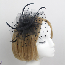 Handmade Women Hair Accessory Fascinator Feather Flower Wedding Party Gift