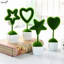 Keythemelife 4 pcs/set Heart Star Shape Artificial Flowers Fake Grass Ball Simulation Plant Home Decoration Wedding Ornaments 7F