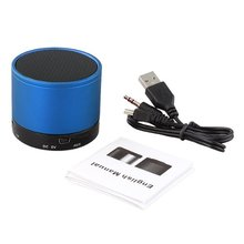Blue Bluetooth Speaker Stereo Speaker Case 10m x TF MP3 MP4 PC(China)