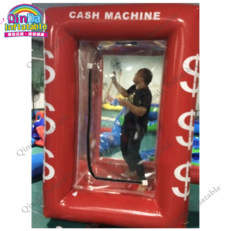 inflatable money catch grab machine booth0