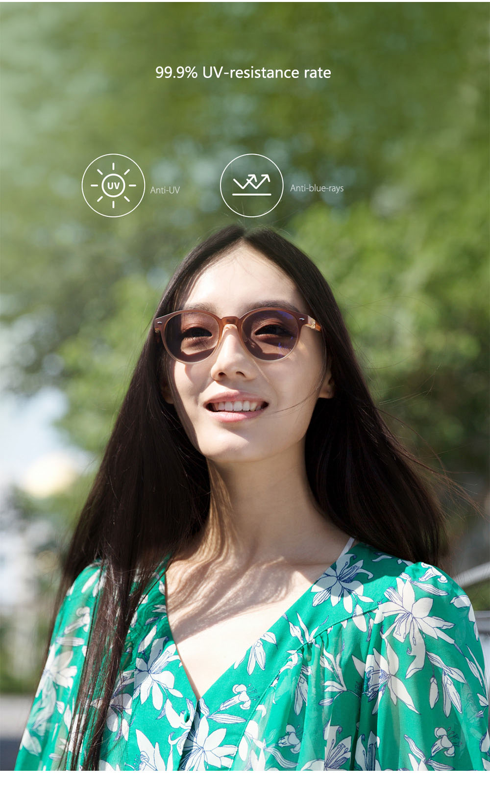 Original Xiaomi Mijia ROIDMI W1 Anti-blue-rays Photochromic Protective Glasses Eye Protector For Play Sport Phone/PC , B1 Update