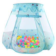 New Indoor Polyester Play House Baby Ocean Ball Pit Pool Kids Princess Hexagonal Tent(China)