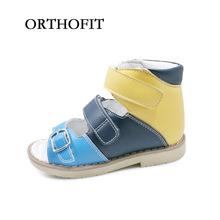 New arrival russian style boys buckle strap genuine leather footwear orthopedic shoes for kids(China)