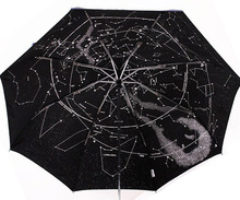 1Piece Creative Automatic Constellation Umbrella Star Map Starry Sky Folding Umbrella