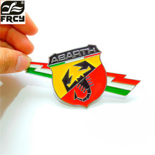 1pcs Car-styling Abarth Emblem 3D Metal Fender sticker Decal for Fiat 500 124 125 695 OT2000 Coupe Punto Stilo Bravo Ducato(China)