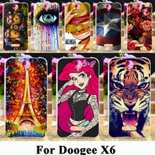 Soft TPU Silicone Painted Phone Cases For Doogee X6 X6 Pro 5.5 inch cases Housing Phone Skin Painted Cover Shell