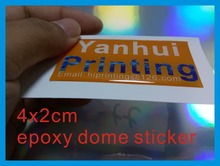 40x20mm epoxy dome sticker printing custom
