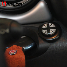 For mini cooper clubman countryman R55 R56 R57 R58 R59 R60 R61 start button sticker union jack black border inerior accessories(China)