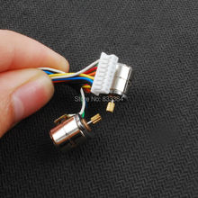 10pcs 1.5V-3V dc  42pcs  Wire 2 Phase micro stepper motor with output copper gear Miniature stepper motor D8mm x H9.2mm