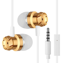 metal bass earphone EN100 Stereo Headset with mic for iPhone 6 xiaomi mi 5 xiomi redmi 4 samsung huawei oppo lg sony phone MP3(China)
