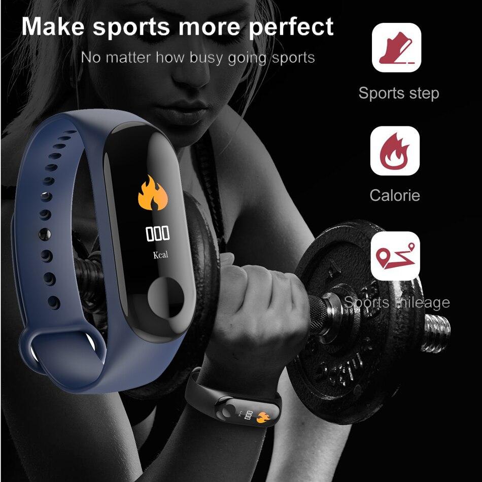 M3 Fitness bracelet pressure measurement Pedometer Fitness tracker Heart rate monitor Oxygen waterproof smart band PK MIBAND 09