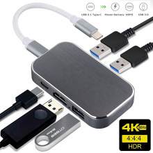 Navceker 100 Вт USB 3,1 Type C к HDMI USB 3,0 адаптер конвертер 4K 60Hz USB C концентратор для MacBook Pro Pixel Huawei Mate10 Samsung S9(China)