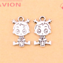 10pcs Tibetan Silver Plated baby Charms Pendants for Necklace Bracelet Jewelry Making DIY Handmade 24*13mm