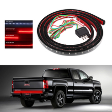 "22W 49"" Flexible LED Car Truck Tailgate Light Bar  Red and White 12V 72LED Running/Brake/Reverse/Signal/Rear Strip Light Lamp"