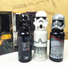 Star Wars Stainless Steel Water Bottle Solid Black Knight White Pawns Cup Aluminum Material Eco-Friendly Drinkware Sports Bottle