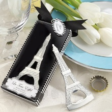 100pcs/lot Home Creative Practical Party Favor Gift Eiffel Tower Design Bottle Opener Wedding Bridal Shower Gift Boxed WA1155