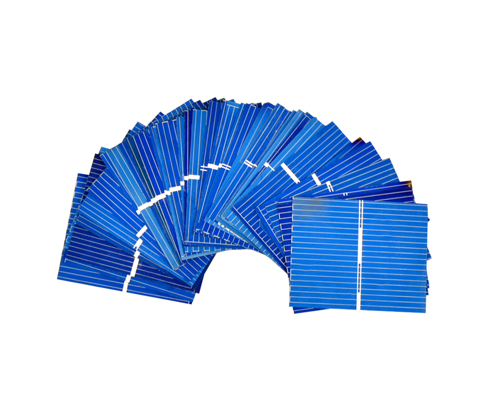 Aoshike 100pcs 0.5V 0.2W 0.4A 39*31.2mm Polycrystalline Silicon Solar Panel DIY Charger Battery Solar Cell 2