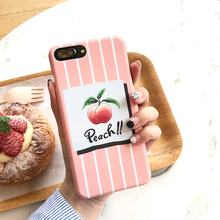 Hepu Fresh Water Peach Phone Case for iPhone7 Apple iphone 6s plus Matte Hard Case Pink Creative Cute Protective shell(China)