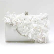 2016 Best Brand Gift Evening Bag Women Flower Bride Clutch Purse Dress Party handbag Wedding Clutch Ladies Shoulder Bags WY13