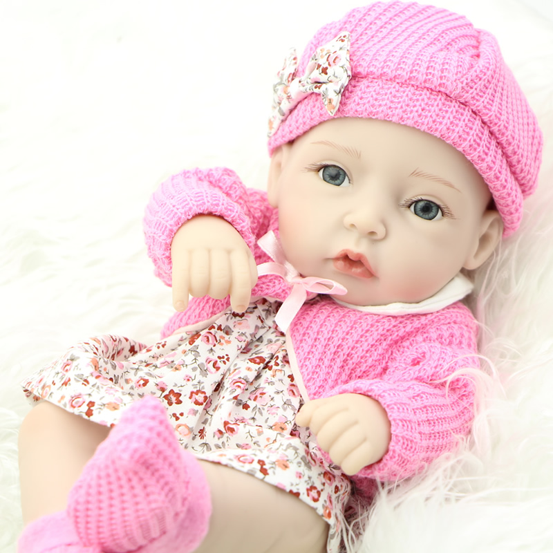 2017 New Style 28 CM Girl Baby Doll 11 Inch Full Soft Vinyl Body Reborn Alive Babies Dolls Kids Birthday Xmas Gift<br><br>Aliexpress