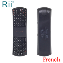 [Free Shipping] Original Rii i24T Mini 2.4G Wireless French Keyboard+TouchPad Mouse for Andorid TV Box/IPTV/PC High Quality