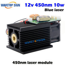 12v high power laser module 10W 450nm laser tube blue violet laser engraving machine accessories 10000mw(China)