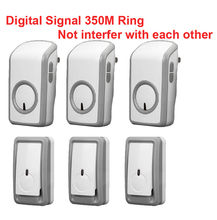 high quality bell kits w/ 3 emitters+3 receiver wireless doorbell Waterproof 380 Meter door chime door ring digital signal ring