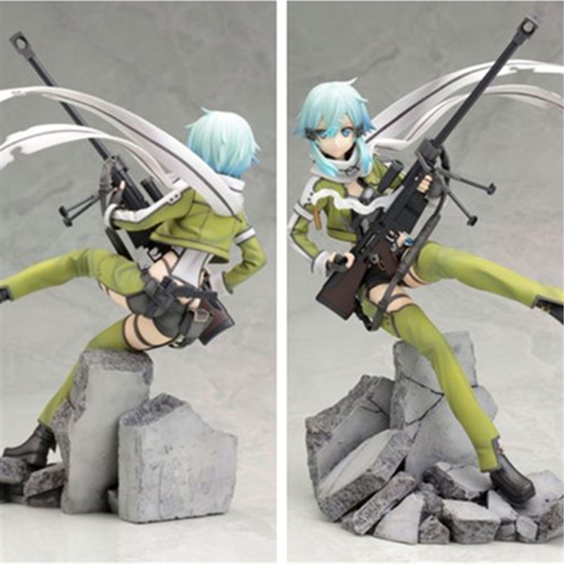 [PCMOS] 2017 New Sword Art Online II Sinon Phantom Bullet 1/8 Pre-Painted PVC Figure NO Box Free Shipping  5192-L<br><br>Aliexpress