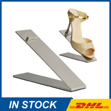 Free Shipping Metal Brushed Shoe Display Stand